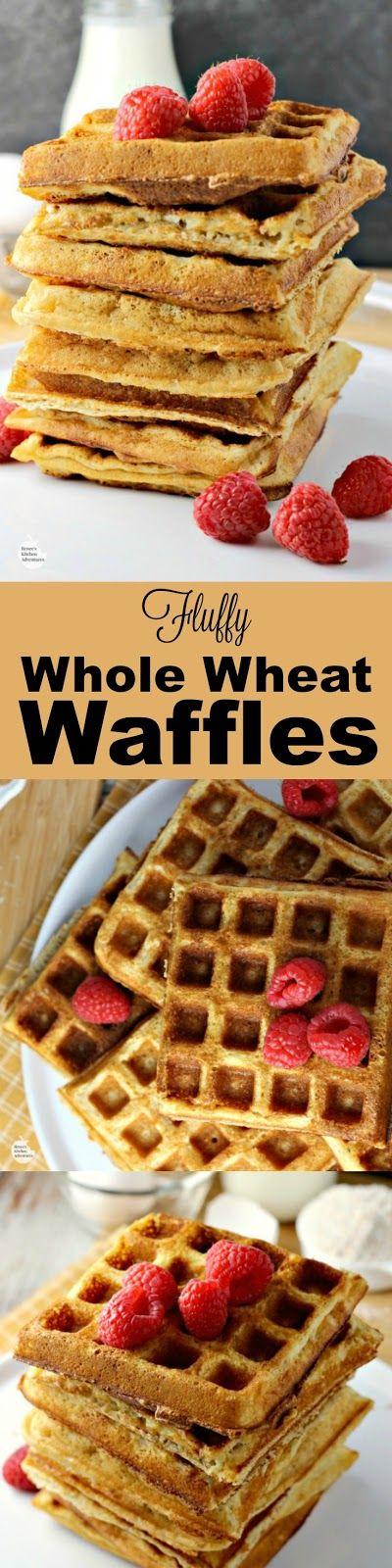 Whole wheat waffles, Waffles and Buttermilk waffles on Pinterest