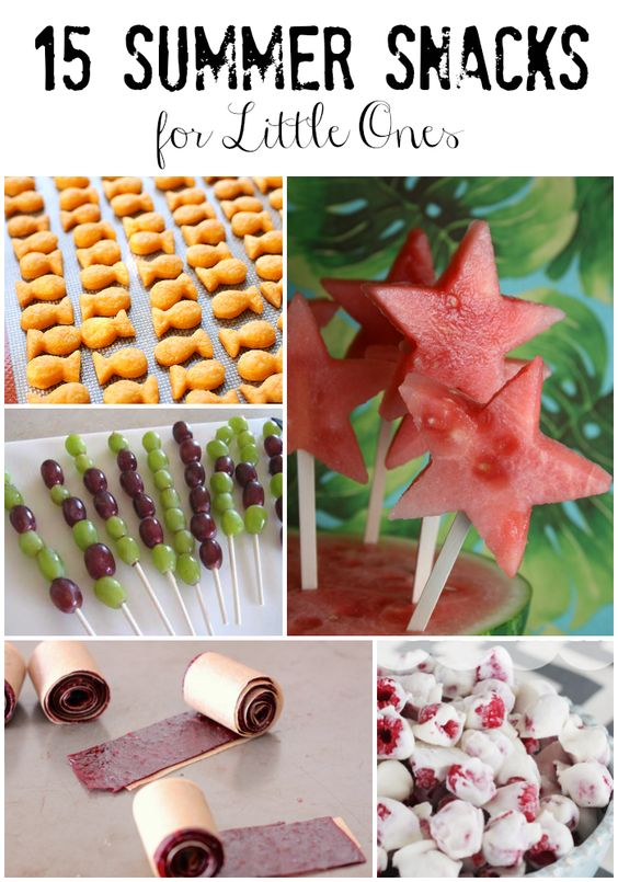 15 Summer Snacks for Little Ones -- amazing, delicious, and healthy snacks to keep your littles happy all summer long! #recipe #kids