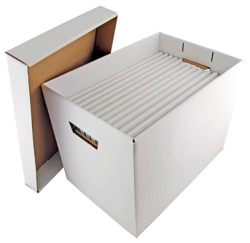 11 X17 Vertical File Storage Container Store Your Important 11 Inch By 17 Inch Documents In An Economical Corrug Cardboard Storage Affordable Storage Storage