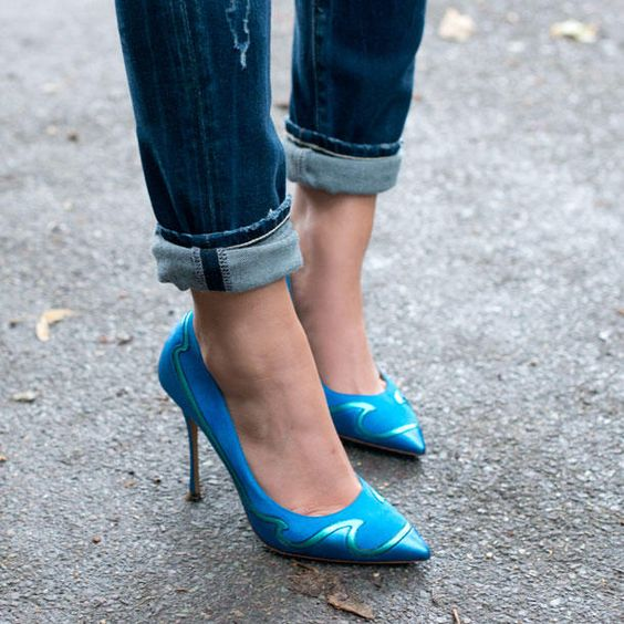 Bequeme hohe Schuhe
