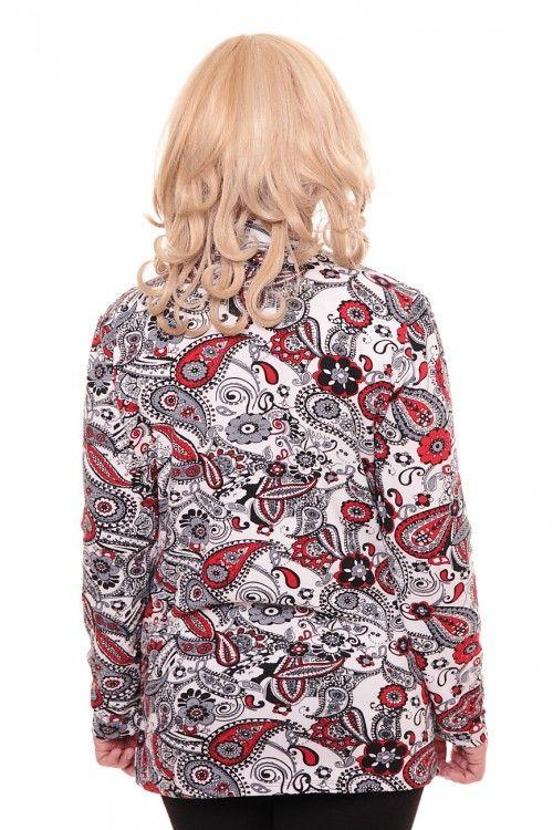 Кофта А0220 Размеры: 50-60 Цвет: белый+красный Цена: 255 руб.  http://optom24.ru/kofta-a0220/  #одежда #женщинам #кофты #оптом24