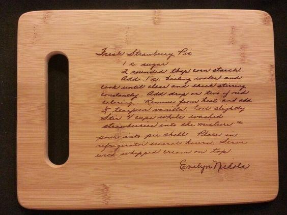 Custom cutting board for Amy