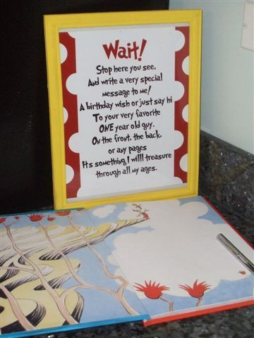 Messages Guest Books And Dr Seuss On Pinterest