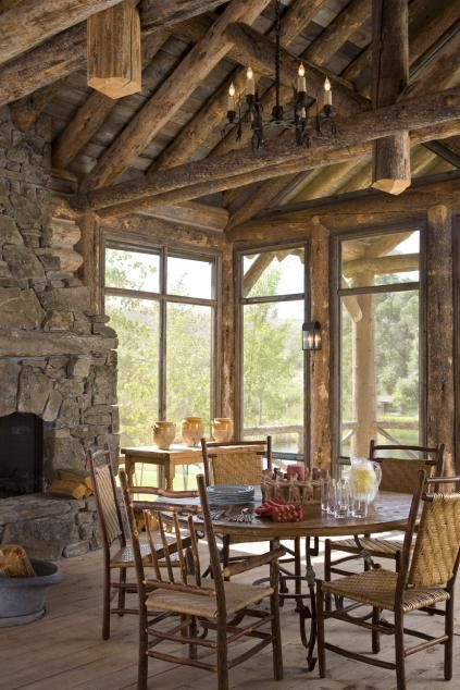 Family-style dining room with a western look and feel