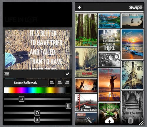 Swipe: A New iPhone Typography App