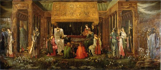 The Last Sleep of Arthur in Avalon (1898), Edward Burne-Jones