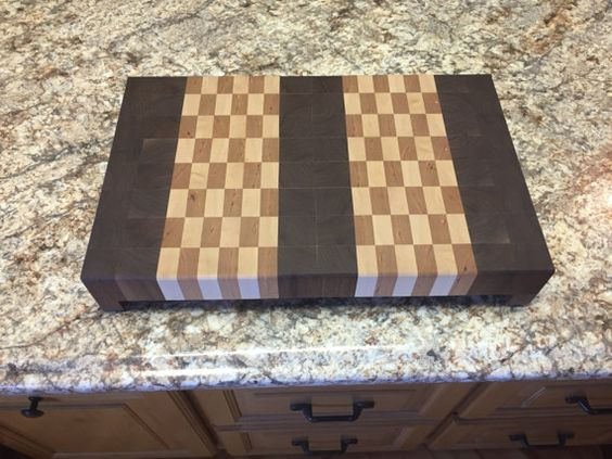 End grain cutting board by KevinCustomCabinets on Etsy