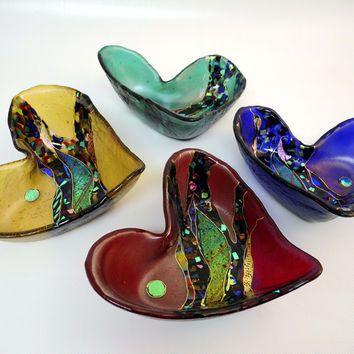 Crazy Heart Bowl by Karen Ehart: Art Glass Bowl | Artful Home