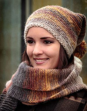 Women hand knit hats and mink scarves | RusClothing.com