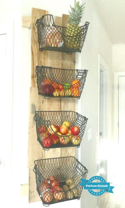 Obstkorb hängend wand
