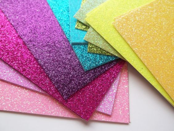 Glitter Notecards  Blank One Sided Glitter by ZyloHomeDesign
