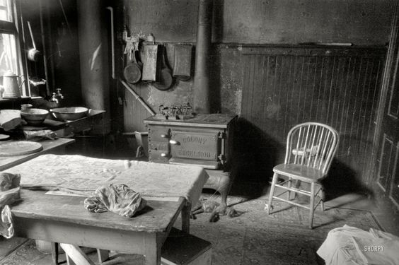 "November 1935. Washington, D.C. ""Kitchen in Negro home near Union Station."" 35mm negative by Carl Mydans, Resettlement Administration. View full size."