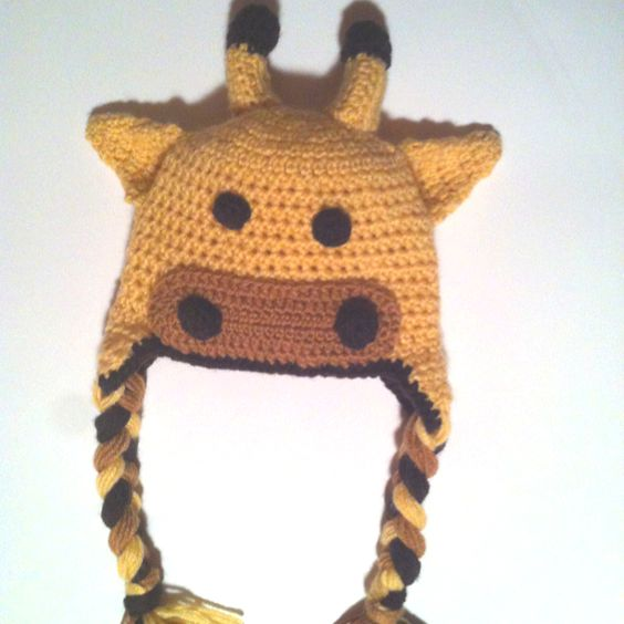 Baby Giraffe Hat Knitting Pattern : Baby giraffe hat My crochet Pinterest Babies, Hats ...