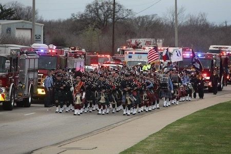 Bryan FD LODD Funeral Procession