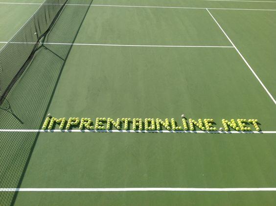 Nuestro logo con pelotas de tenis #logo #logotipo #tenis #tennis #balls