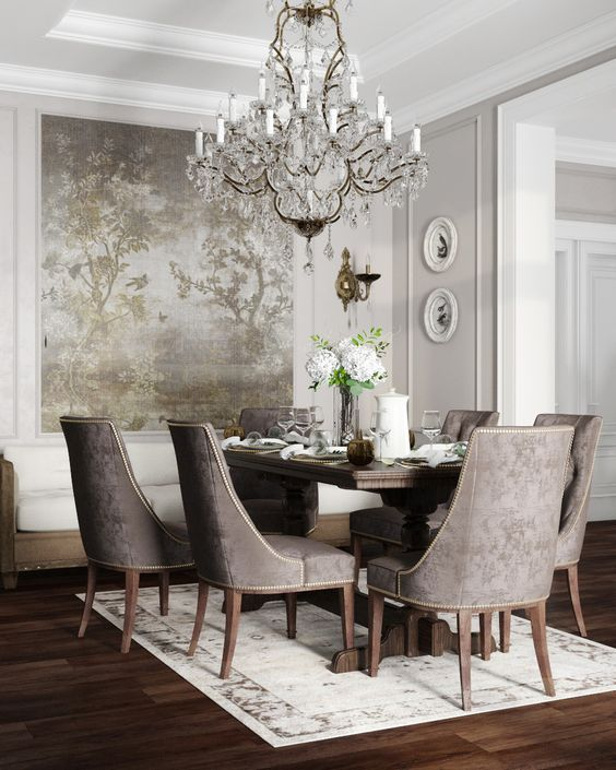 Kitchen Dining Elegant Dining Room Luxury Dining Room