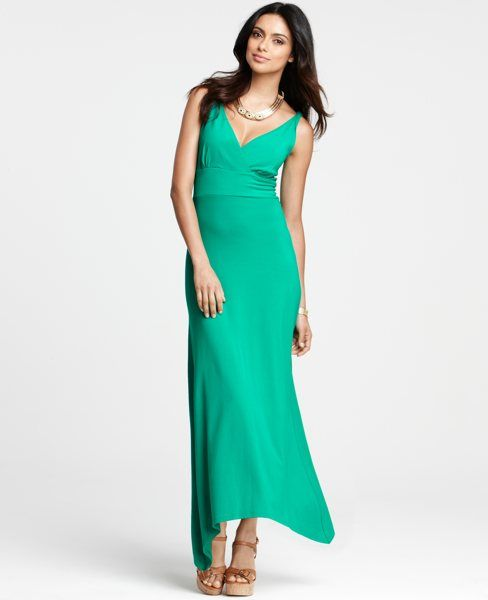 Petite Asymmetric Hem Maxi Dress