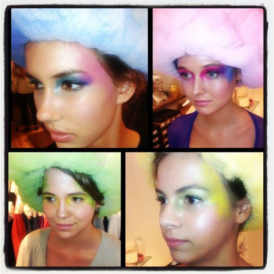 "My four looks from the Nicole Kwon + Karen Walker event! Serving abstract ""Candy Coated"" cotton candy realness!"