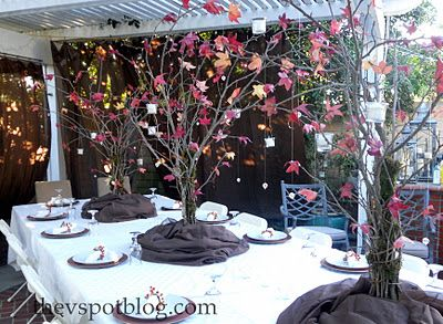The V Spot: Decorating with {free} sticks. Centerpieces for fall
