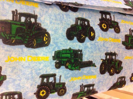 Blue John Deere crib/toddler fitted sheet and by Mommyslittlehobby, $30.00