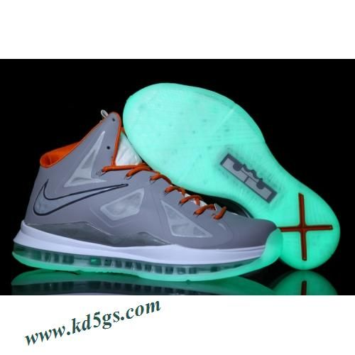 Nike Lebron X 10 2012 Grey Green Orange