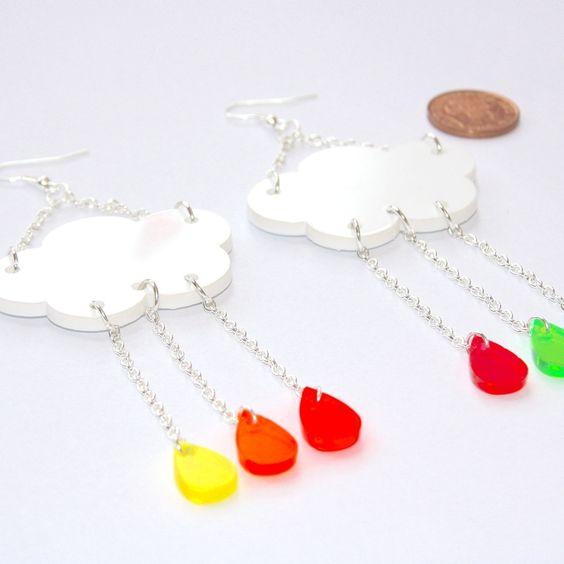 Sour Cherry - Acid Rain Earrings, $25.97 (http://www.sourcherry.co.uk/acid-rain-earrings/)
