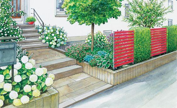 Gartenidee f r einen pflegeleichten vorgarten for Zeitung gartenidee