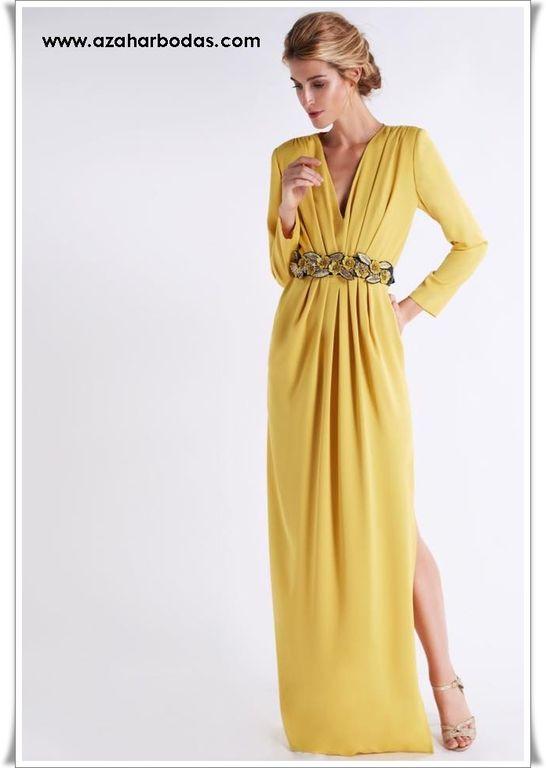 Pin De Muyu En Vestido Elegante Vestidos Amarillos Largos Vestidos Largos Cortos Vestidos Largos