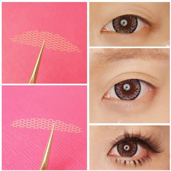 Double Eyelid Tape Schlupflid-Weg Invisible Augenlid Lifting Spitze Faser 24 in Beauty & Gesundheit, Make-up, Augen | eBay: