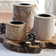 plateau en bois exotique et trois porte bougie en bouleau la d co de cri pinterest deco. Black Bedroom Furniture Sets. Home Design Ideas