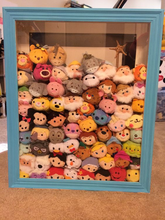 DIY DISNEY TSUM TSUM SHADOW BOX....still need a few more tsums to fill it up!:
