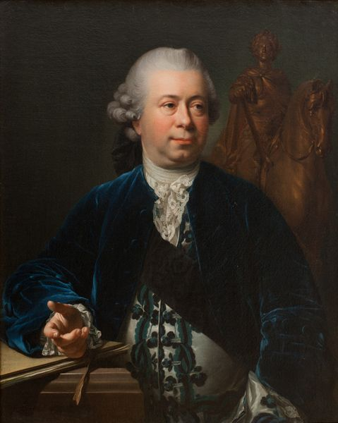 """Jacques-François-Joseph Saly"", Jens Juel, 1772; Statens Museum for Kunst KMS4801:"