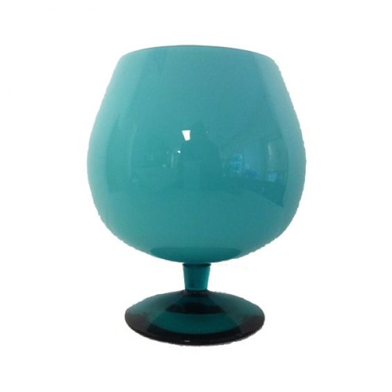 Our pretty aqua cased goblet.