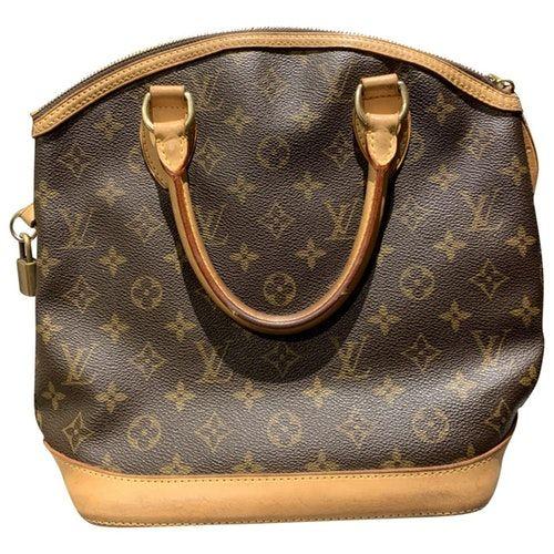 Lockit Vertical Brown Cloth Handbag In 2020 Louis Vuitton Lockit Handbag Outfit Louis Vuitton