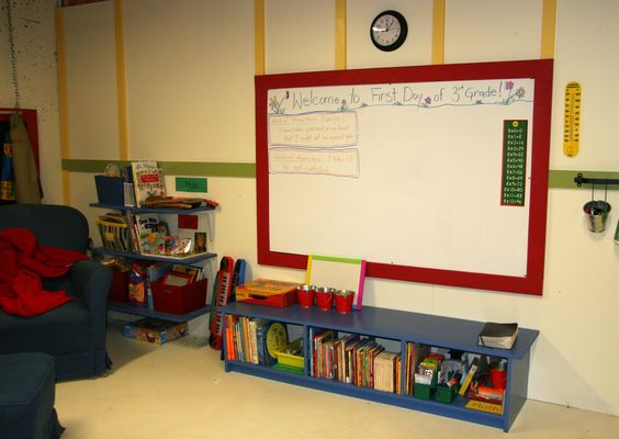 $12 shower board as a white board.... Shady Creek Academy ....: Let Me Show You Around our School Room!