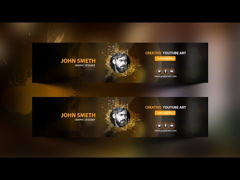 How To Make A Professional Youtube Banner Template Photoshop Cc Tutorial Youtube Banner Template Photoshop Youtube Banner Template Banner Template
