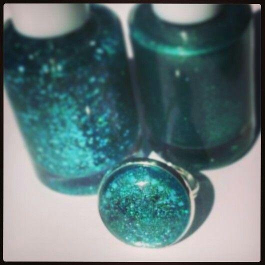 Nail polish jewellery by mellow studio.