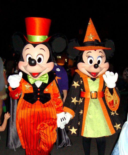 costume de mascotte couple mickey et minnie en halloween httpwwwmascotshows - Mickey Minnie Halloween