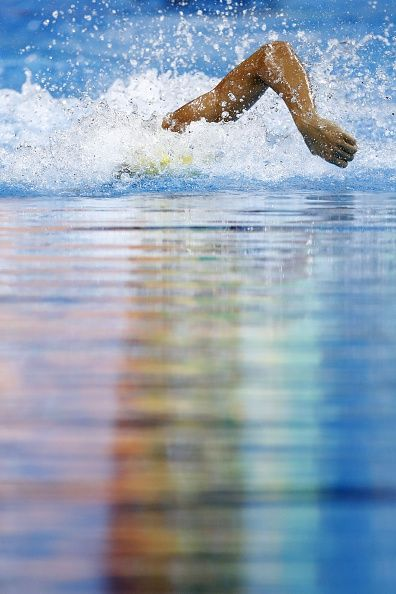#TOPSHOT Australia's Cameron McEvoy competes in a Men's 100m Freestyle heat during the swimming event at the Rio 2016 Olympic Games at the Olympic...