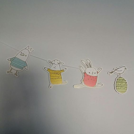 Easter bunting from @klinakloen! So cute!: