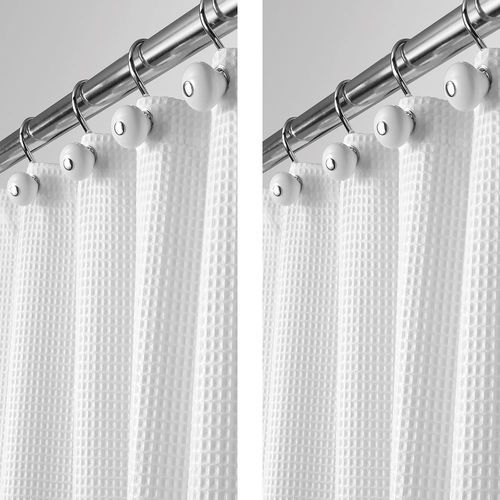 X Long Waffle Weave Fabric Shower Curtain 72 X 84 In 2020