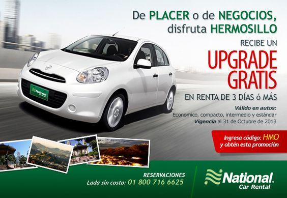 ¿Viajas a Hermosillo y buscas GRANDES Promociones?  ¡Reserva Ahora! https://nationalcar.com.mx/promociones/hermosillo-upgrade