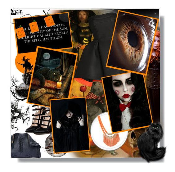 """""""Hallowen"""" by aminkicakloko ❤ liked on Polyvore featuring Parlor and vintage"""