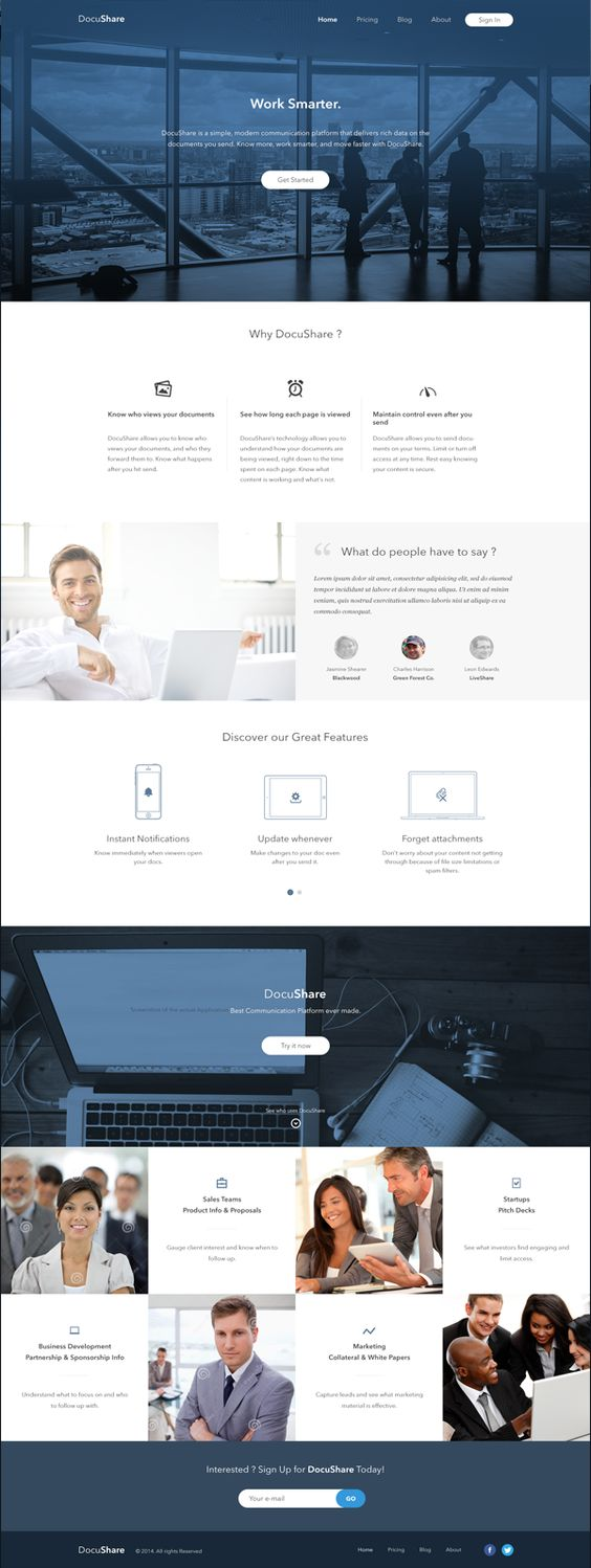 Docushare business website