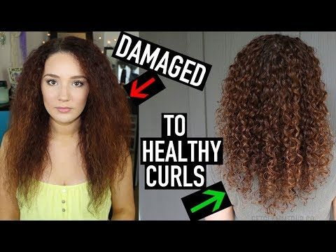 How To Transition To Naturally Curly Hair 10 Steps To Curly Hair For Beginners Youtube Curly Hair Styles Naturally Curly Hair Styles Damaged Curly Hair