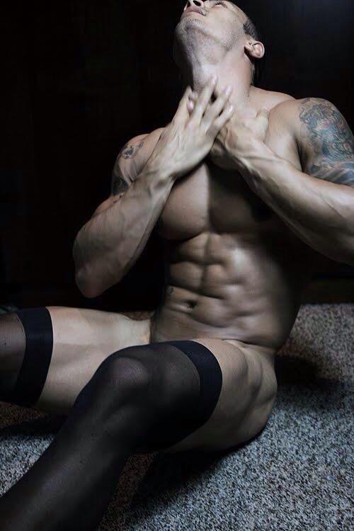 Guys in stockings