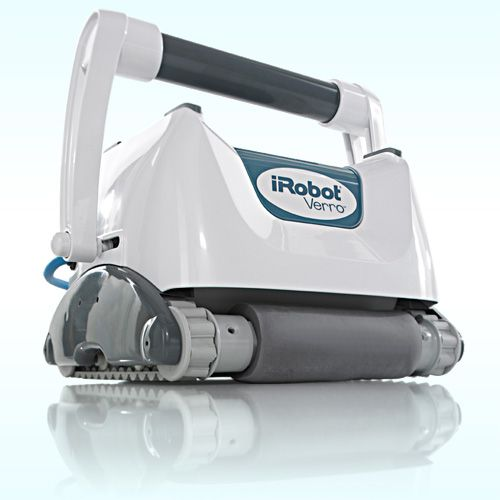 Verro 500 PowerScrub Pool Cleaning Robot  Price: $1,099.99 iRobot's Verro 500 Pool Cleaning Robot STANDARD FEATURES: No installation required - no hoses, dedicated lines or booster pumps. Robot's powerful vacuum and self-contained filtration system pick up and trap leaves, hair, sand, dust, algae, bacteria and tiny debris down to 2 microns - that's 20 times smaller than the human eye can see