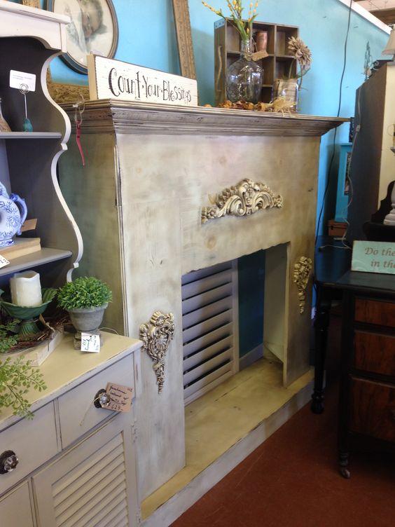 DIY idea for fireplace