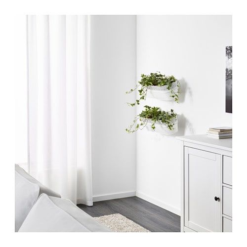 Skurar Flower Box With Holder Indoor Outdoor White 20x7 51x19 Cm With Images Indoor Living Room Interior Room Interior