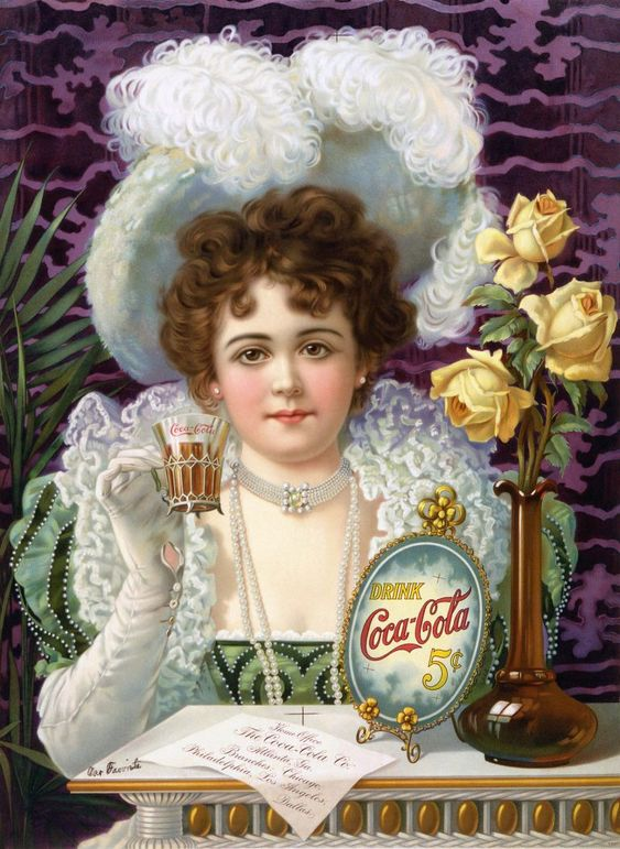 Hilda Clark - First Coca-Cola Celebrity Advertisement - 1890s